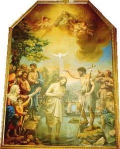 洗礼をヨハネから受けるイエス2