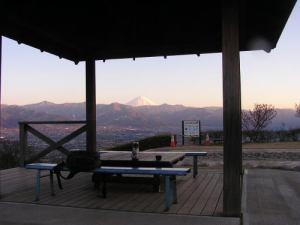 富士景色に珈琲1