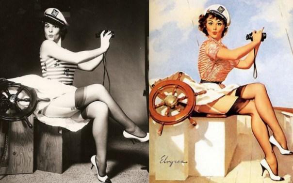 Fotografía e ilustración de modelo por Gil Elvgren