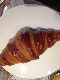 Perfect flaky, airy croissants.