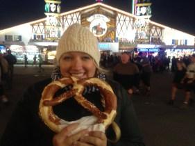 Huge pretzel.
