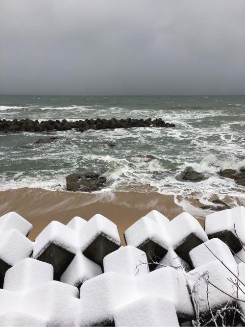 冬,笹川流れ,日本海,