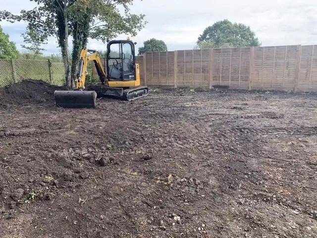 Digging off the topsoil