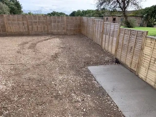 Concrete wheelie bin area