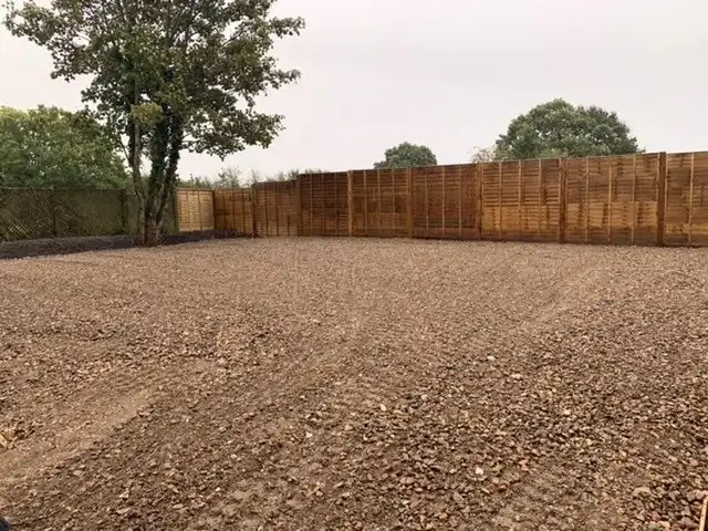 Stone surface for car park extension