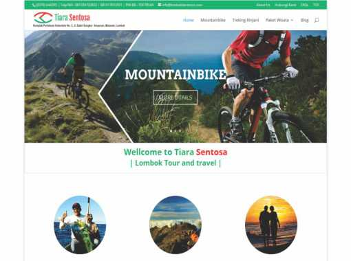 Website Lombok Tiara Tour