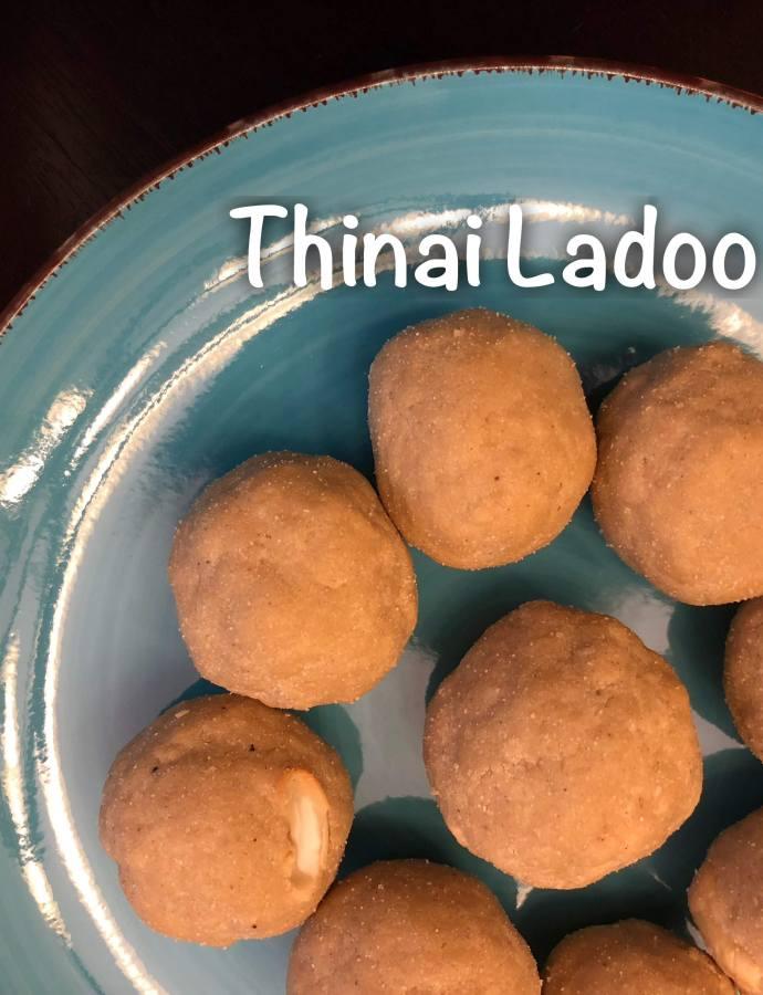 Thinai Ladoo with Honey