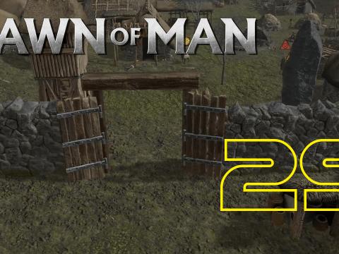 Eisenbeschlag für die Tür. Dawn of Man #29