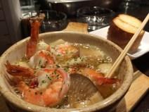 海老とエリンギのガーリックオイル煮
