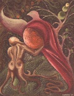 Genesis, 2001. Oil on paper. Private collection.