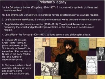 A summary of Péladan's legacy