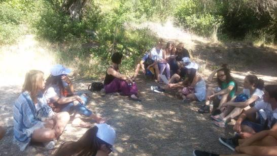 We're big on open-air teaching at Andrioti School. Here we're learning about the Medusa next to the oldest Doric temple in Greece.... ten minutes away from our school.
