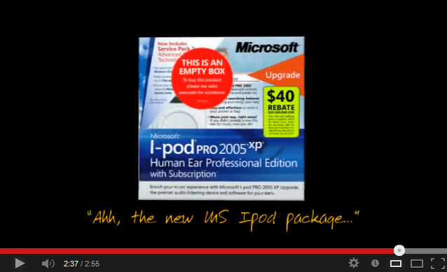 Microsoft iPod Package