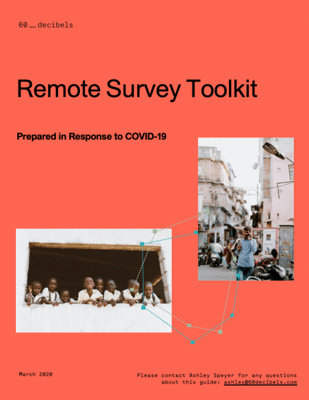 60 Decibels Remote Survey Toolkit