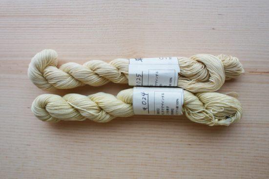 黄色系統_草木染め刺し子糸