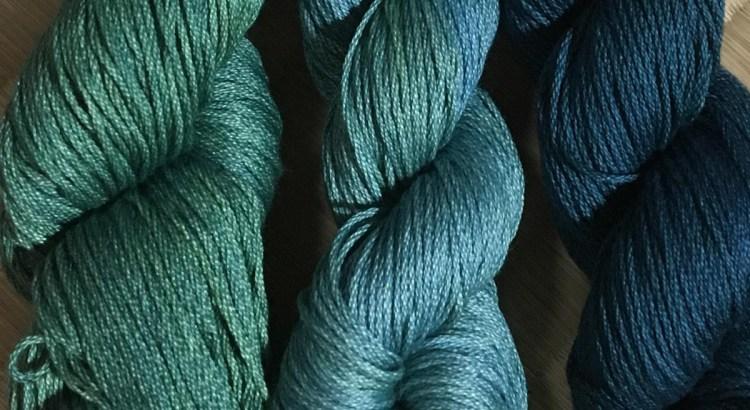 藍染め刺し子糸について