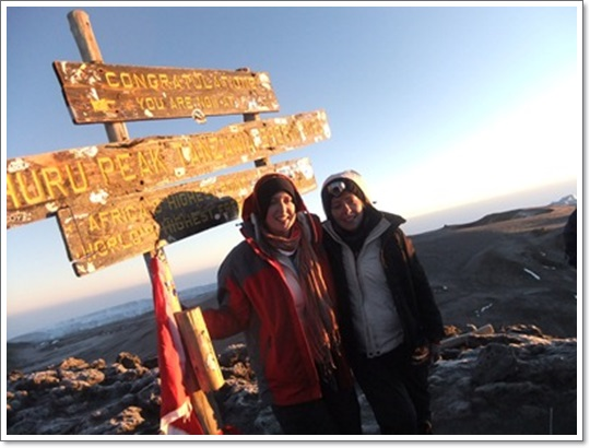 """Sarah & Alexa reach the summit of Kilimanjaro in 2011!"""
