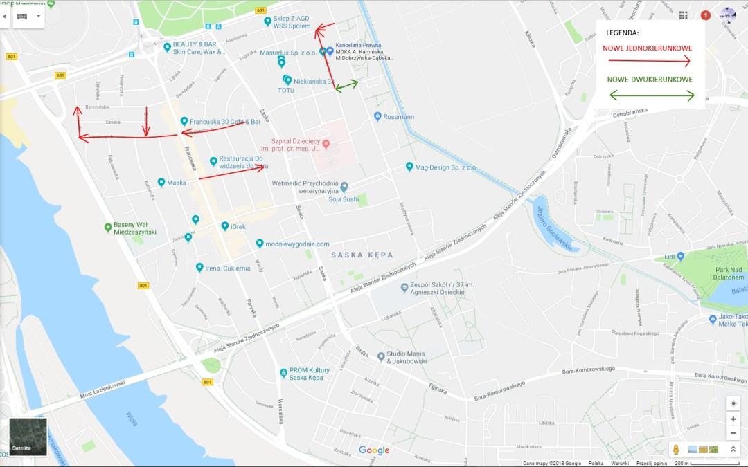 2018-11-30: * zmiany organizacji ruchu na Kępie *