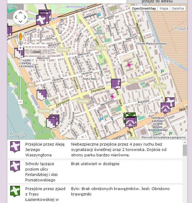 Warszawska Mapa Barier