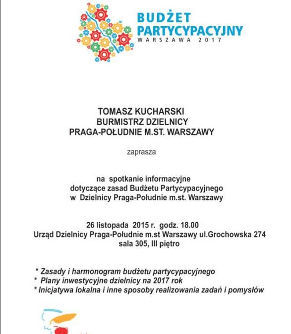 2015-11-26: spotkanie dot. budżetu partycypacyjnego
