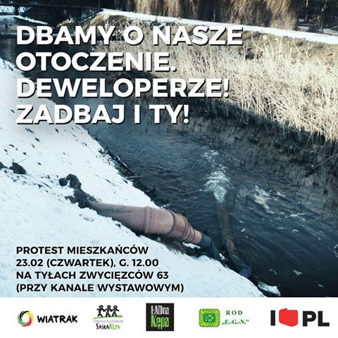 2017-02-23: protest mieszkańców przeciwko samowoli developera