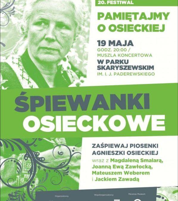 """2017-05-19: 20ty Festiwal """"Pamiętajmy o Osieckiej"""" – ŚPIEWANKI OSIECKOWE"""