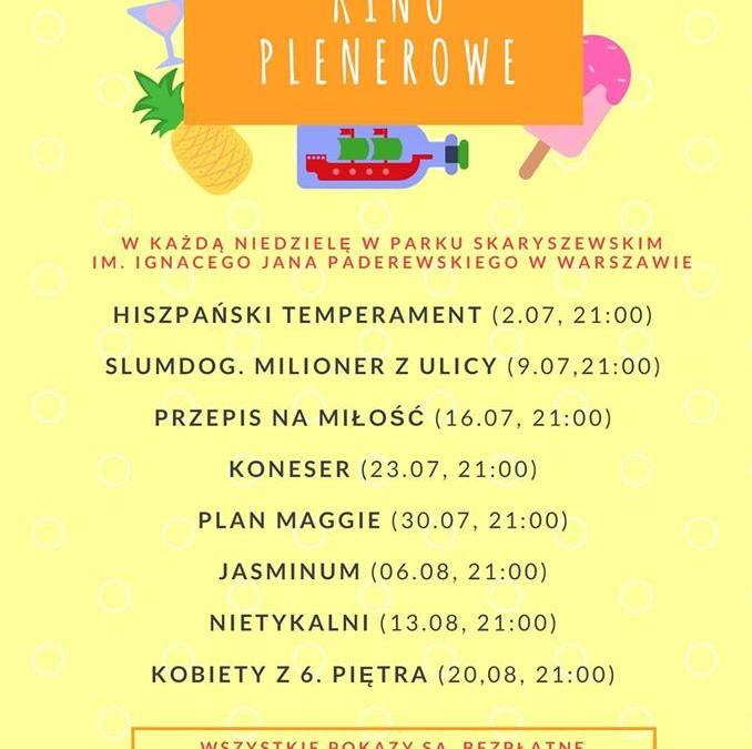 """2017-08-20: Kino plenerowe: """"Kobiety z 6. piętra"""""""