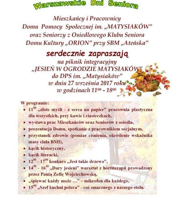 2017-09-27: Jesień w ogrodzie Matysiaków – piknik