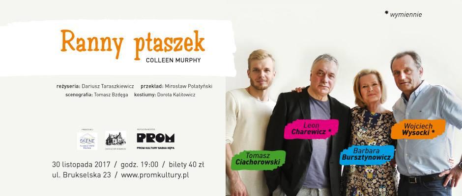 """2017-11-30: Teatr Kępa: """"Ranny ptaszek"""" Colleen Murphy"""