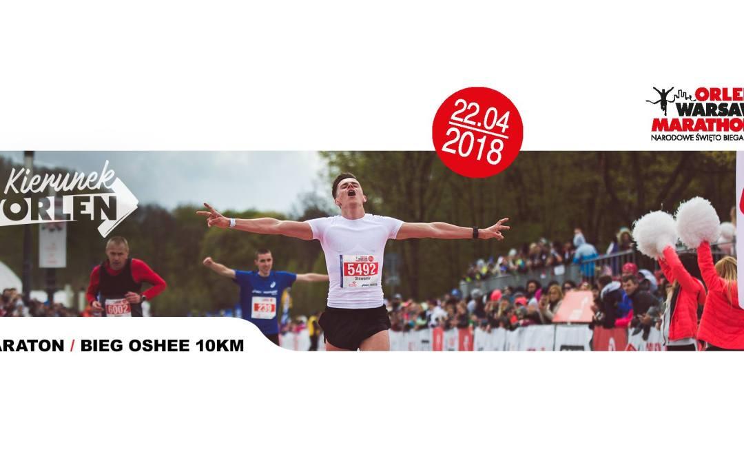 2018-04-22: ORLEN Warsaw Marathon & bieg OSHEE 10 km