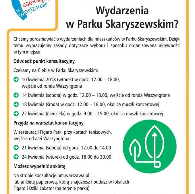 2018-04-24: konsultacje społeczne dot. Parku Skaryszewskiego!