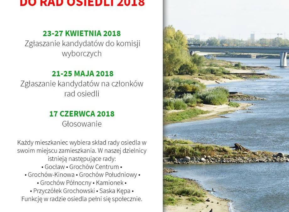 2018-05-21 do 25: zgłaszanie kandydatów do Rad Osiedli – wybory Rady Osiedla Saska Kępa