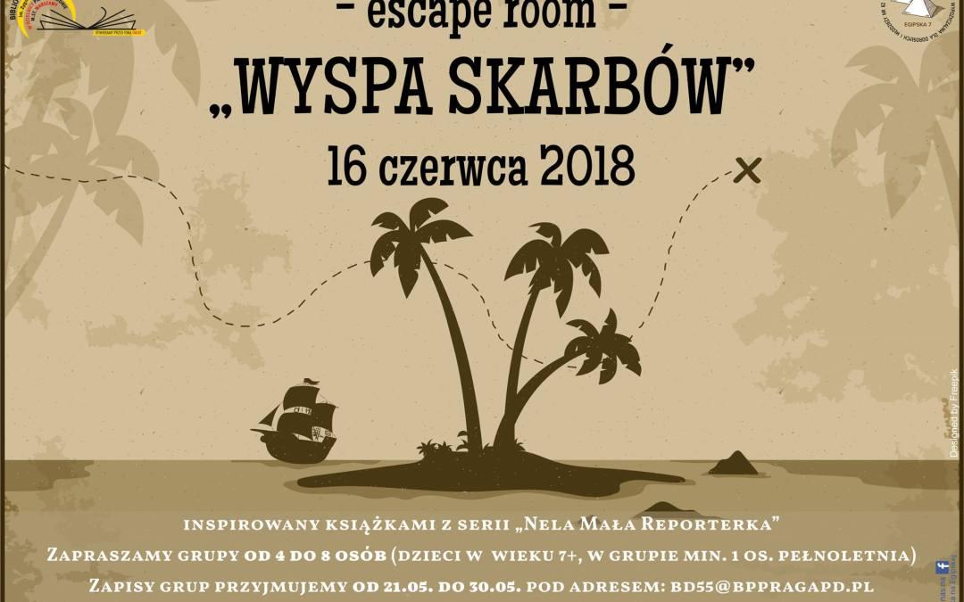 """2018-06-16: """"Wyspa skarbów"""" – escape room w bibliotece"""