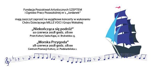 """2018-06-18: Koncerty dla dzieci """"Niekończąca się podróż"""""""