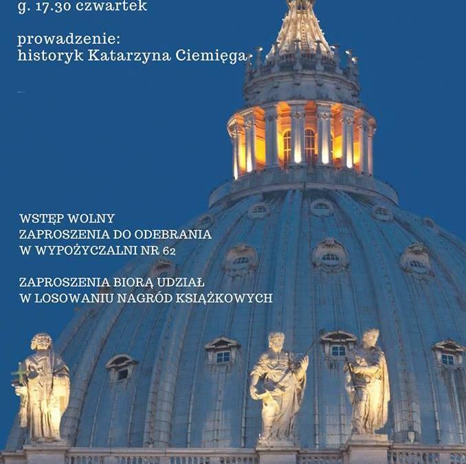 2018-12-13: Boże Narodzenie w Watykanie. Spotkanie z historykiem