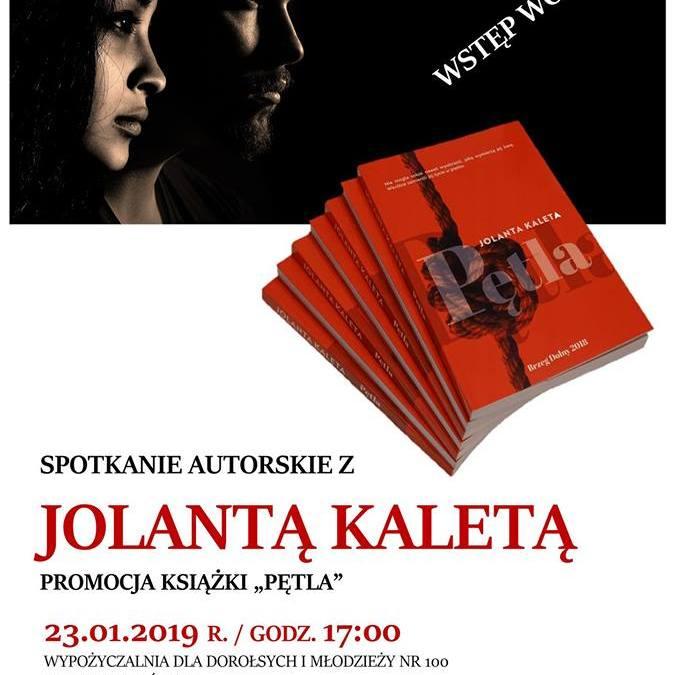 2019-01-23: Spotkanie autorskie z Joanną Kaletą