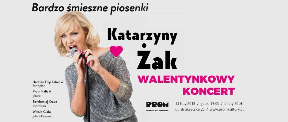 """2019-02-14: Walentynkowy koncert Katarzyny Żak """"Bardzo śmieszne piosenki"""""""