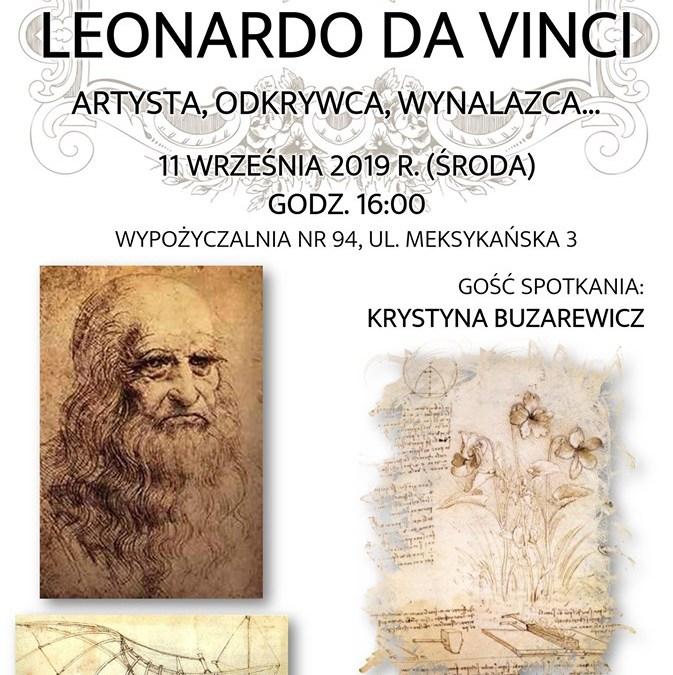 2019-09-11: Leonardo. Spotkanie w Wypożyczalni nr 94