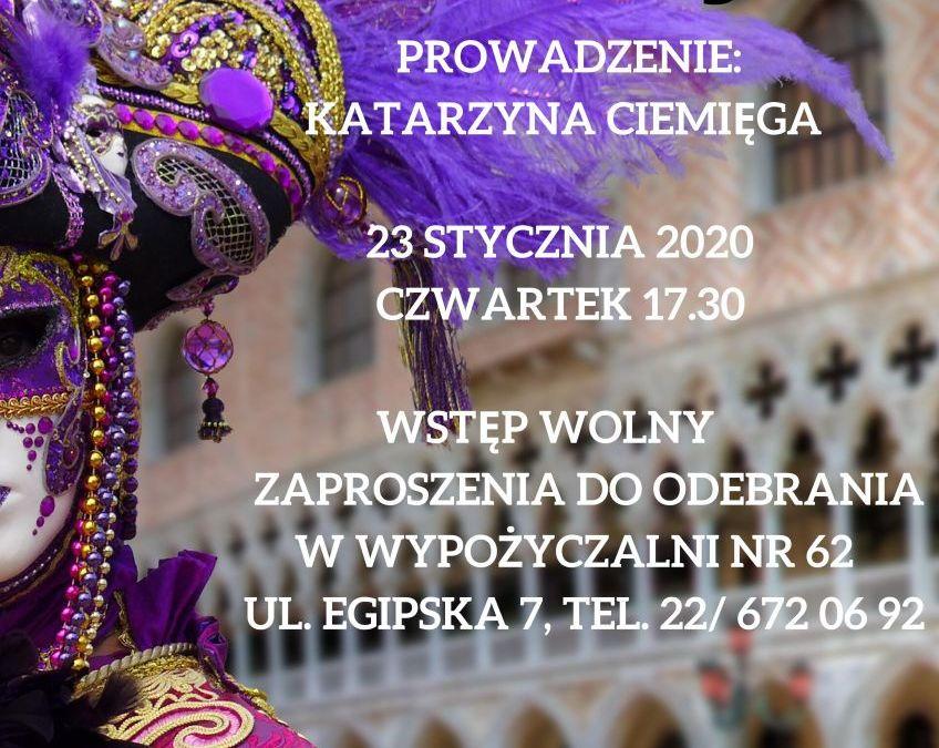 2020-01-23: Wenecja i zwyczaje karnawałowe
