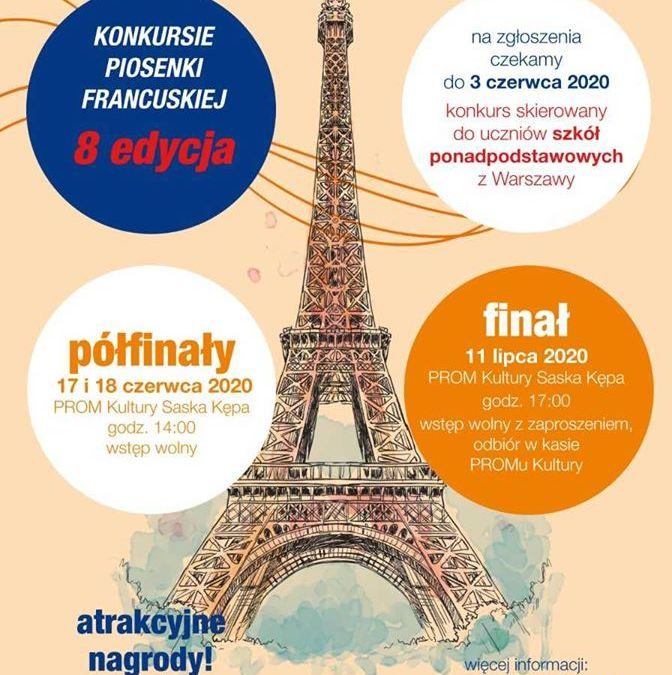2020-07-11: Finał Konkursu Piosenki Francuskiej