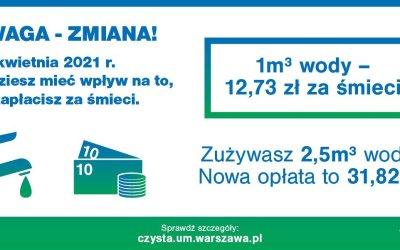2021-04-01: Nowe opłaty za śmieci – według zużycia wody (zmiana terminu)