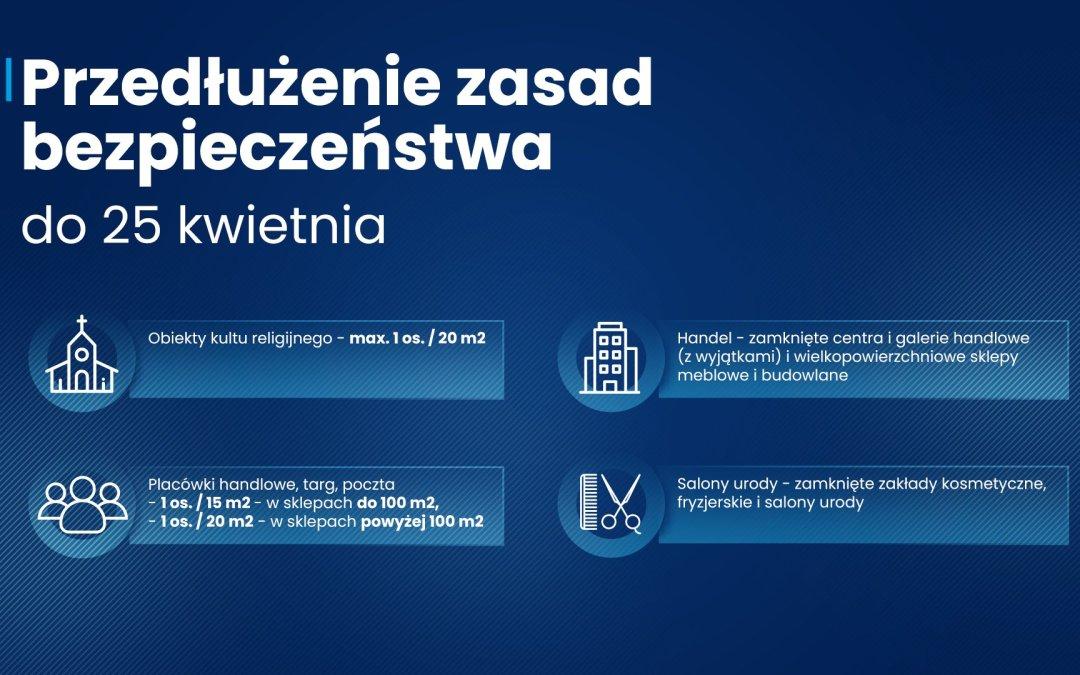 2021-04-19 do 2021-05-03: obowiązujące zasady bezpieczeństwa #COVID (w całym kraju)