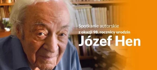 2021-11-10:  Józef Hen – spotkanie autorskie z okazji 98. rocznicy urodzin