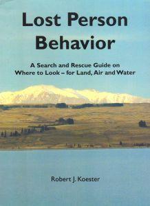 Lost Person Behavior book