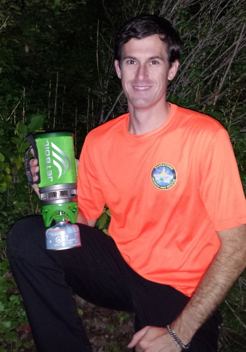 Mark and jetboil stove.