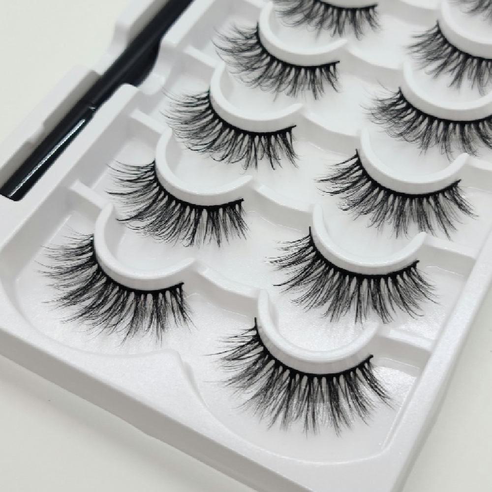 Magnetic Eyelashes Set with Magnetic Liner – Sask Beauty Supply #2029A
