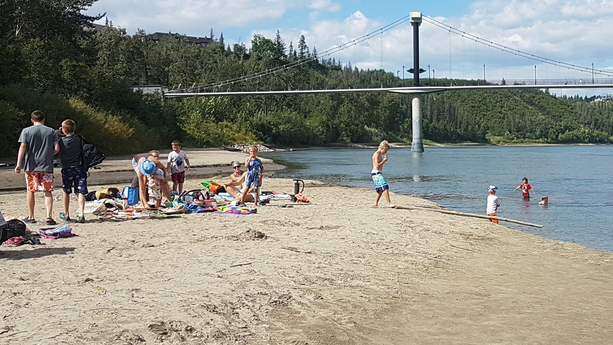 Swimming in the North Sask – August 15 test results