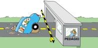 13/01/2000 - Mesmo com pedágios, manutenção das estradas é precária.
