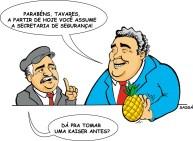 22/03/2000 - Ex-governador Jaime Lerner passa a secretaria de segurança para José Tavares.
