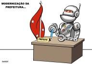 31/03/2001 - Setores da prefeitura passam por informatização.